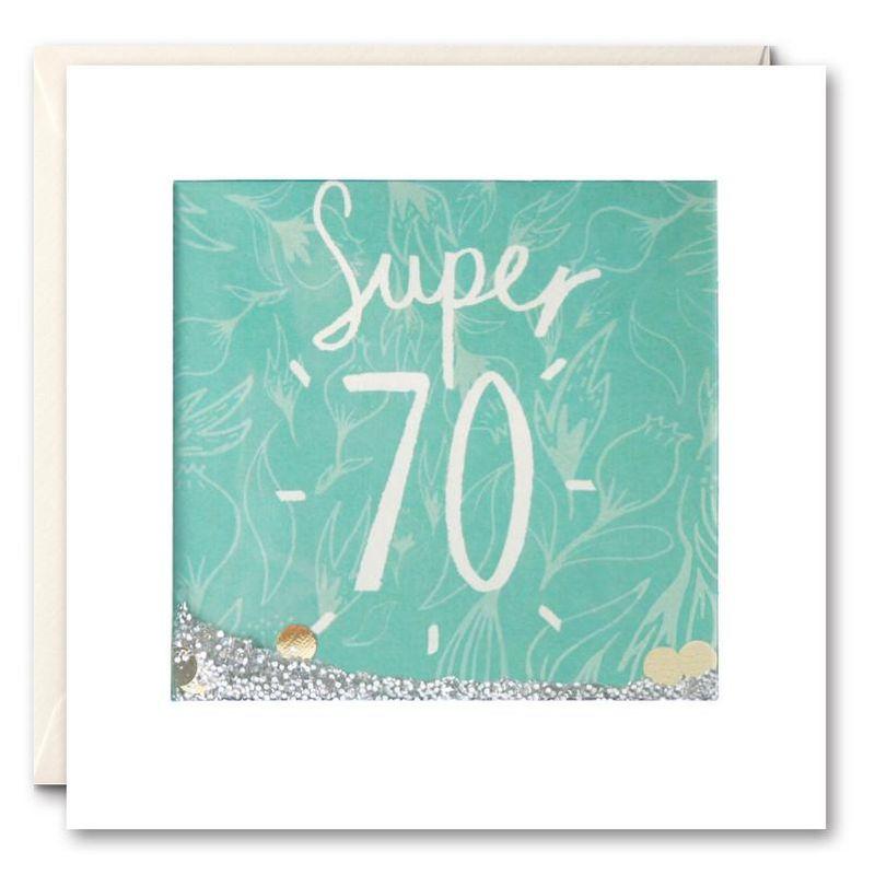 Shakies Super 70th Birthday Card