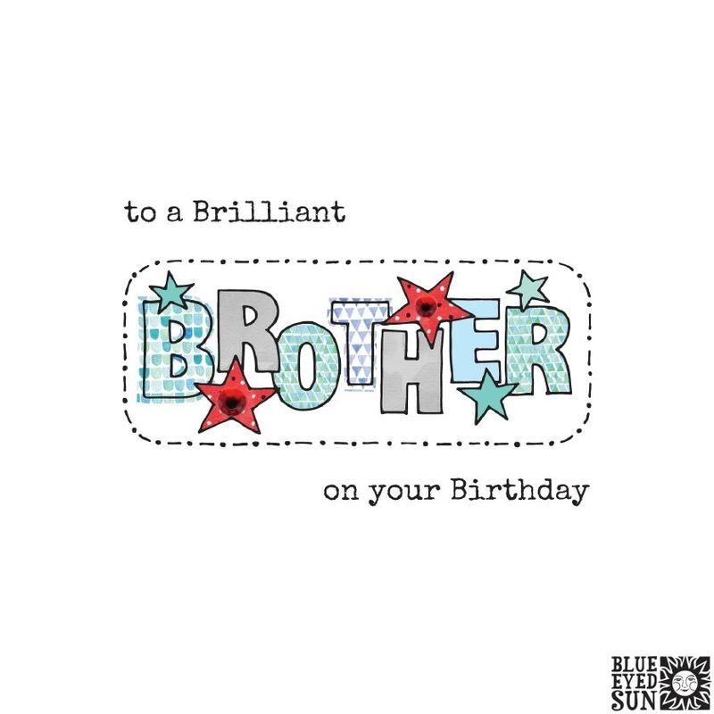 Brilliant Brother Birthday Card