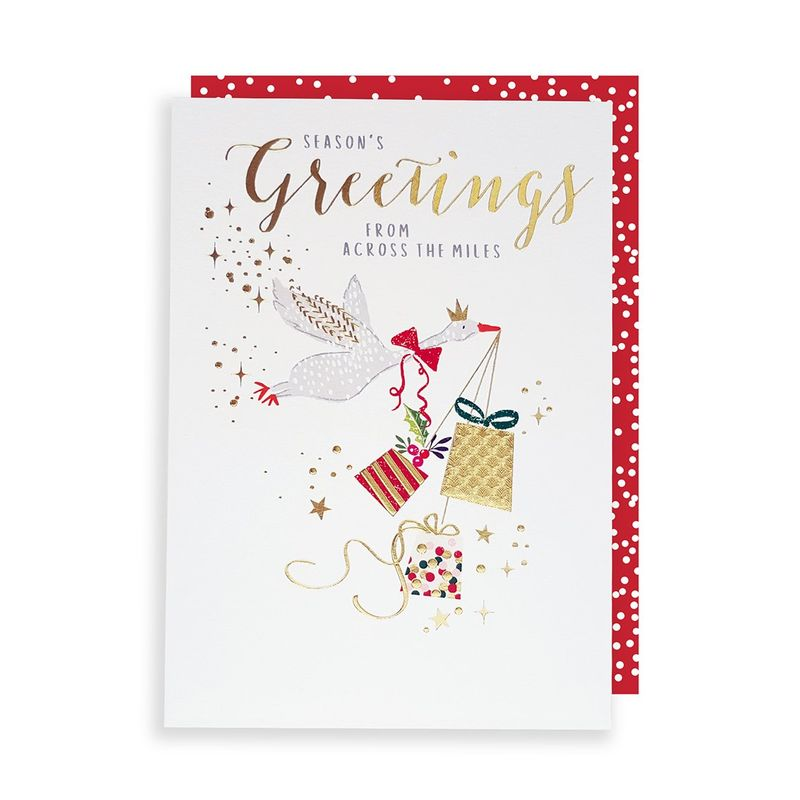 Season\'s Greetings From Across The Miles Christmas Card - Karenza ...