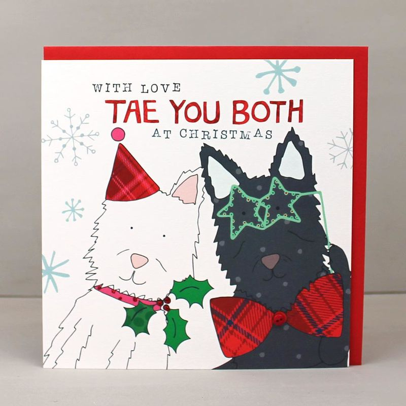 Tae You Both Scottish Christmas Card - Karenza Paperie