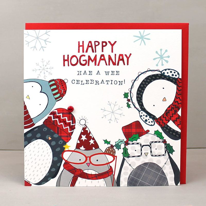 happy hogmanay scottish new year card karenza paperie