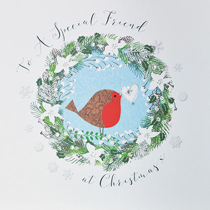 To A Special Friend At Christmas Card - Large, Luxury Card - Karenza ...