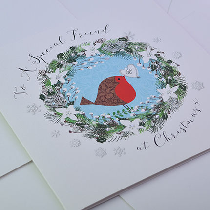 To A Special Friend At Christmas Card Large Luxury Card Karenza