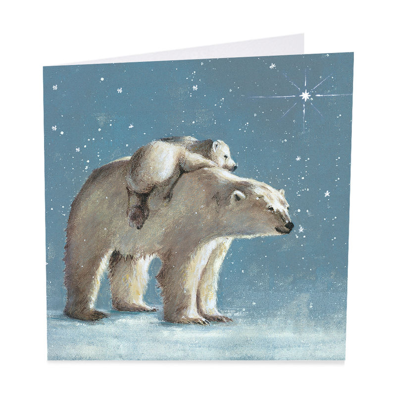 Pack Of Polar Bears Let It Snow Christmas Cards - Shelter Charity ...