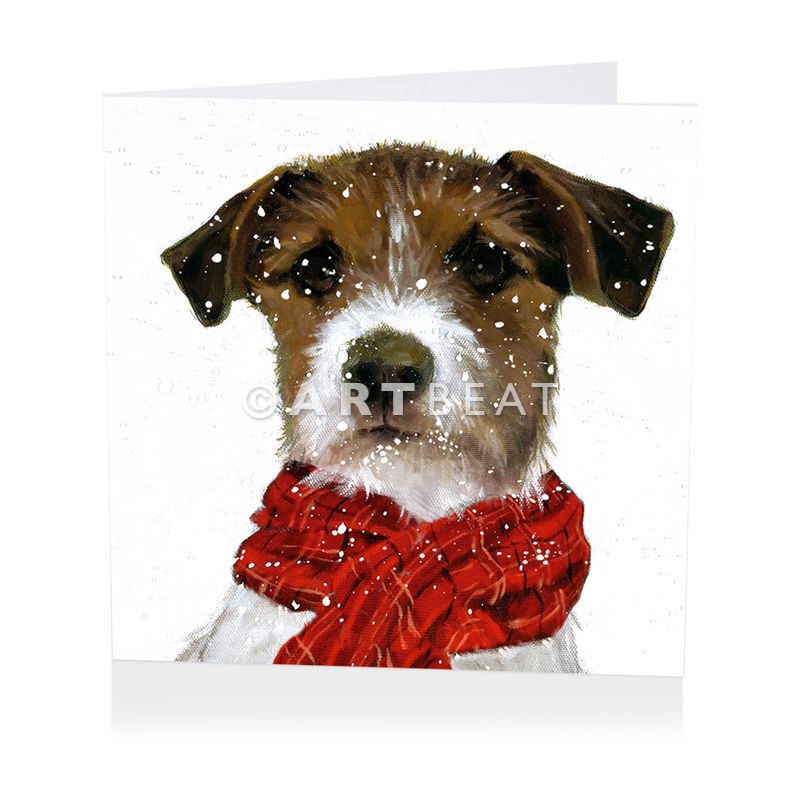Pack Of Dog Wearing Scarf Christmas Cards - Shelter Charity ...
