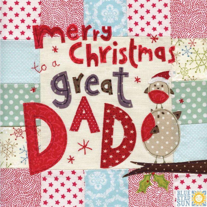 Robins Dad Christmas Card - Large, luxury Christmas Card - Karenza ...