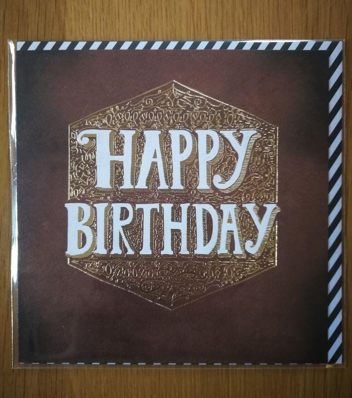 Male Happy Birthday Card