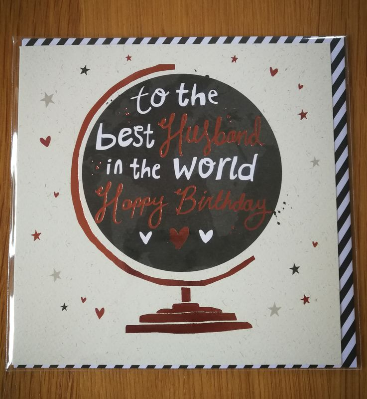 To The Best Husband In World Birthday Card