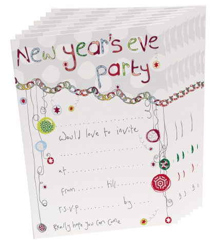 Pack,of,8,New,Year's,Eve,Party,Invitations,buy new years eve party invitations online, new year's eve invitations, new years eve invitations, new year's party, invites, invitations, invites for party, party invites, new year invitations, happy new year invites