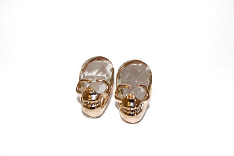 Small,Skull,Stud,Earrings