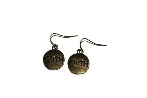 Faith,Coin,Earrings
