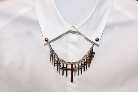 Multi,Cross,Collar,Chain