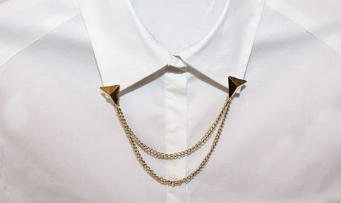 Triangle,Stud,Collar,Chain