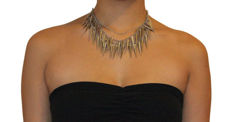 Multi,Spike,Necklace