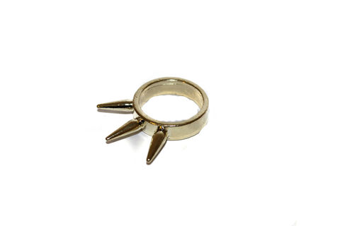 Small,Three,Spike,Ring