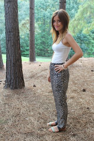 Loose,Fit,Leopard,Pants