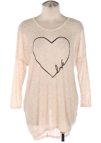 Love,Tunic,Love Tunic, Heathered Oatmeal Tunic