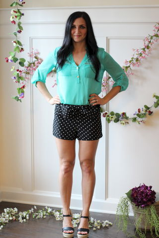 Get,Spotted,Shorts,Polka dot shorts, Bow shorts
