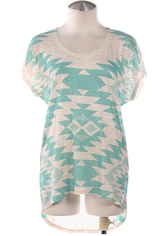Tribal,Mint,Tee