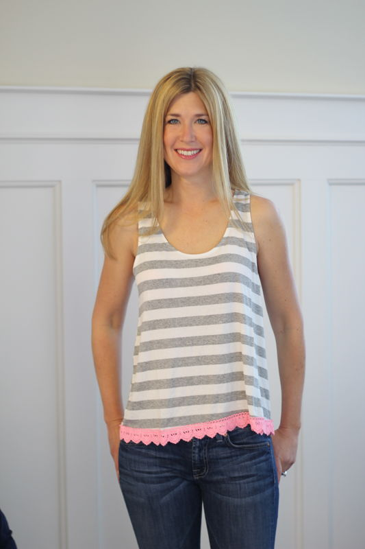 Crochet Trim Tank  - product images  of