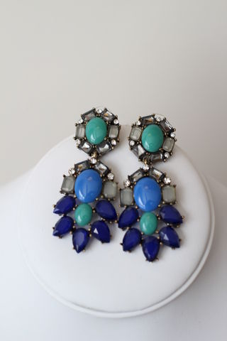 Blue,Christmas,Earrings