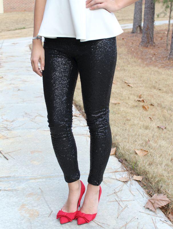 Black Sequin Leggings - Molly Suzanne