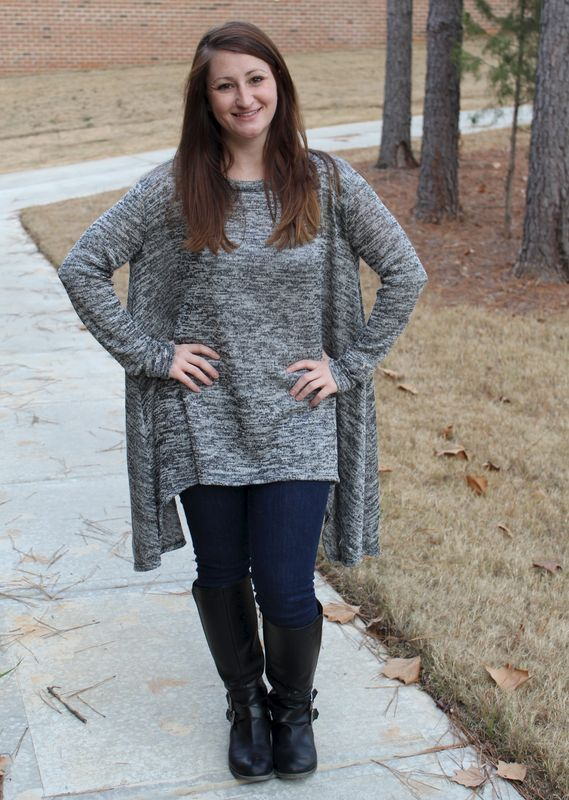 Heathered Sweater Tunic - product images  of