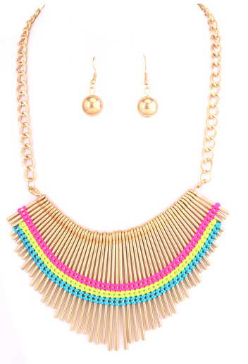 Neon Bib Necklace - product images