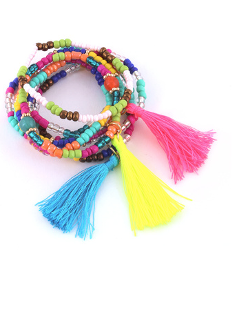 Tassel Bracelet Set - product images  of