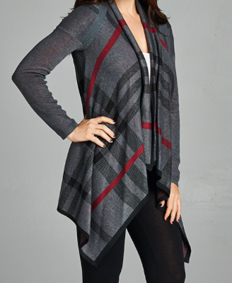 Plaid,Cardigan