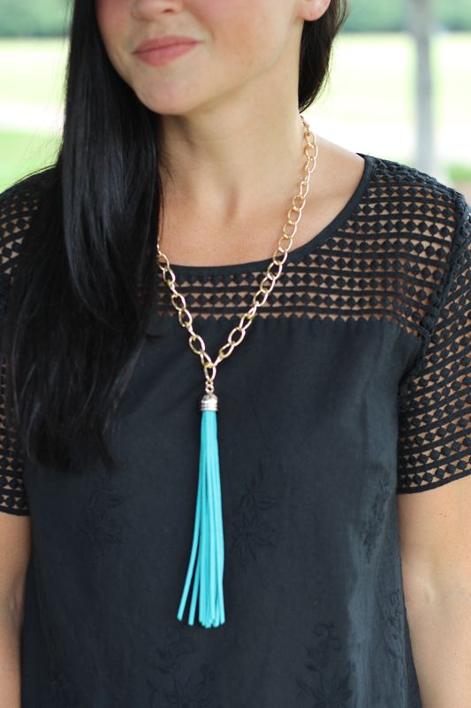 Leather Tassel Necklace - product images  of