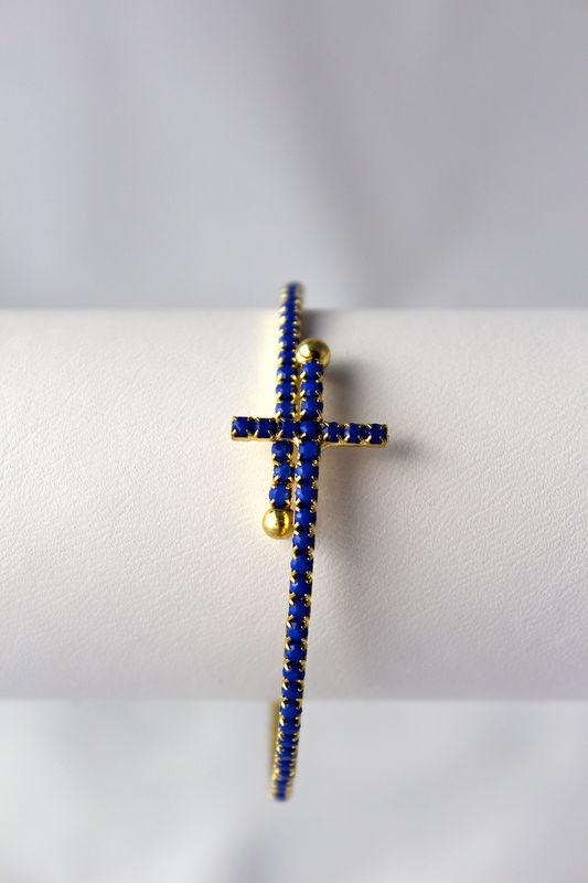 Sideways Cross Bangle Bracelet Sideways Cross Wrap Bracelet