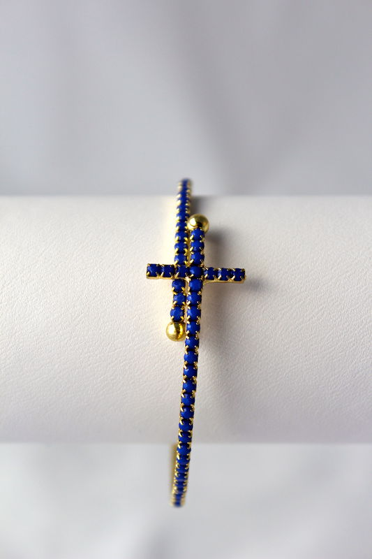 Sideways Cross Wrap Bracelet - product images  of