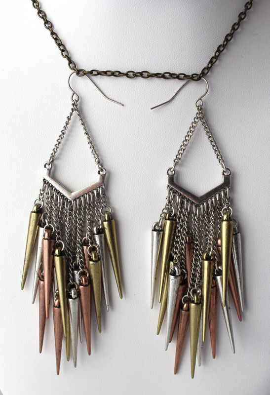 Cluster of Spikes Earrings - product images