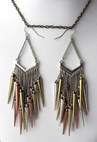 Cluster,of,Spikes,Earrings