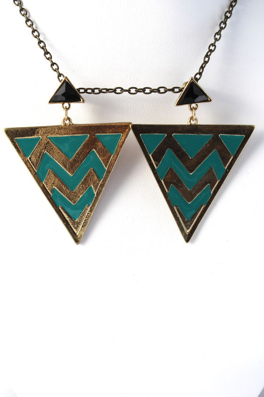 Chevron Triangle Earrings - product images