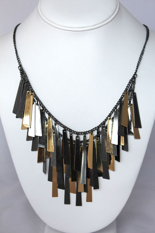 Bar Fringe Necklace - product images