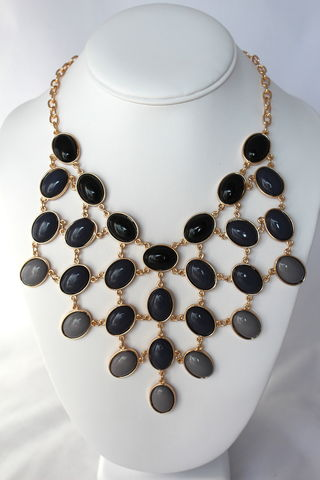 Ombre,Bib,Necklace