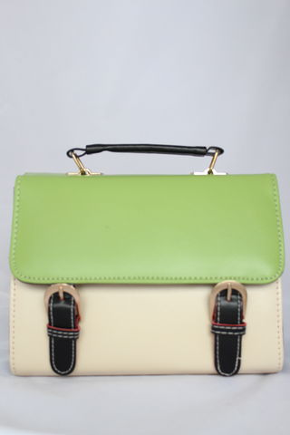 Green,Flap,Satchel