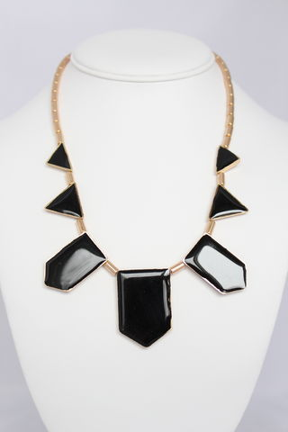 Black,Triad,Necklace