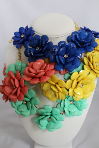 Flower,Power,Necklace,(Multiple,colors)