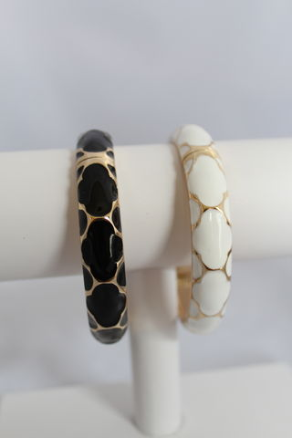 Patterned,Enamel,Bangle