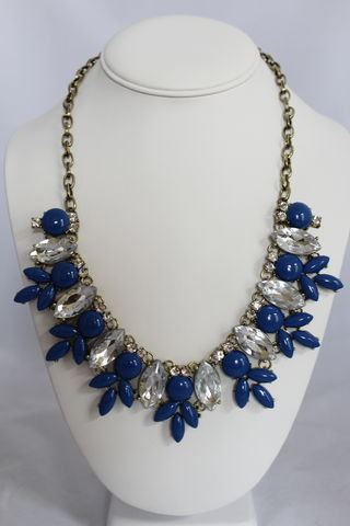 Maggie,Necklace,-,Blue