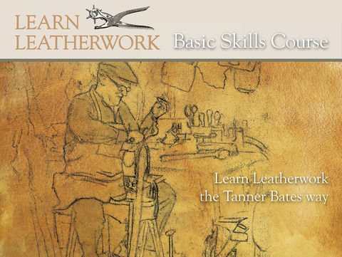 Basic,Skills,Leatherwork,Course,DVD,learn leatherwork,leather courses,leathercraft,leatherwork,leather kits