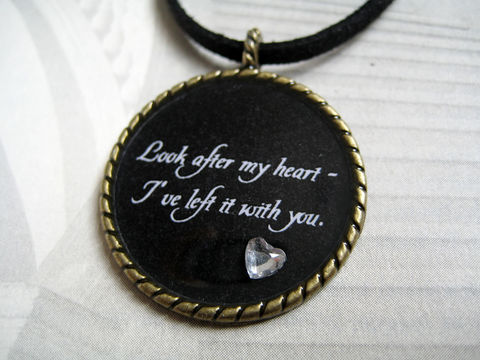 Look,After,My,Heart,Necklace,(CLEARANCE),look after my heart necklace, edward cullen quote, edward cullen necklace, twilight quote necklace, twilight saga quote necklace, twilight jewelry, edward bella necklace