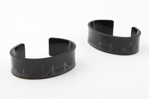 Acrylic,London,Cuff,Acrylic London Skyline Cuff