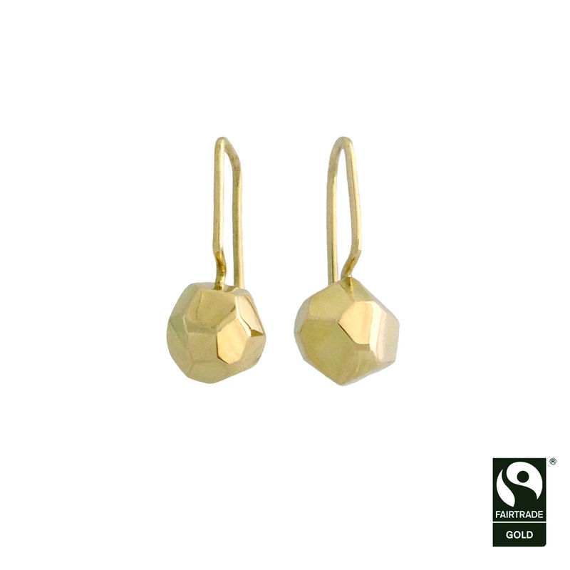 Asteroid drop earrings in Fairtrade Gold - product images  of