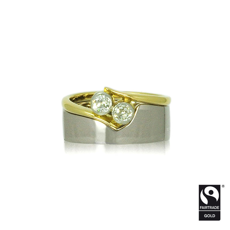 Fairtrade Gold <br>Shaped Wedding Band<br> - <i> commission only </i> - - product images