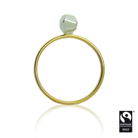 Asteroid,Solitaire,Ring,in,Fairtrade,gold
