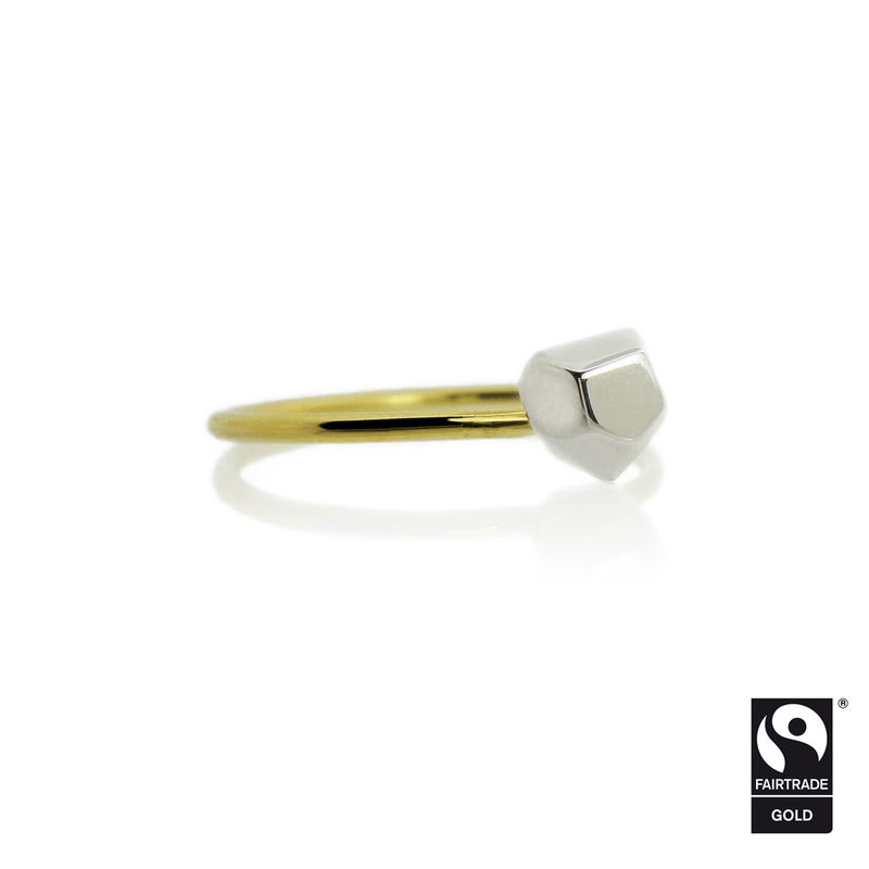 Asteroid Solitaire Ring in Fairtrade gold - product images  of